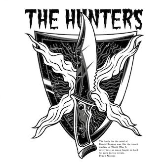 Охотник черный и белый