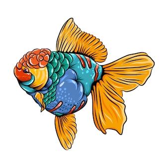 동화책 영감을위한 coloufull body와 아름다운 koki fish zentangle의 일러스트