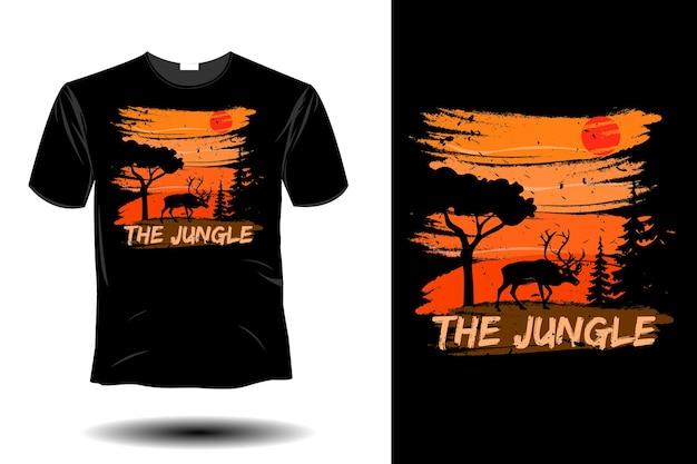 정글 이랑 복고풍 빈티지 디자인