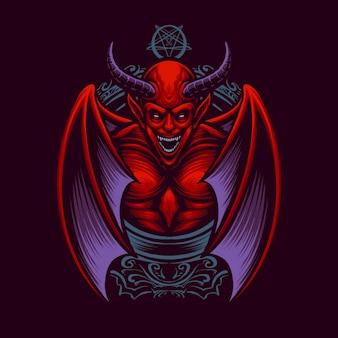 Вектор иллюстрации короля дьявола