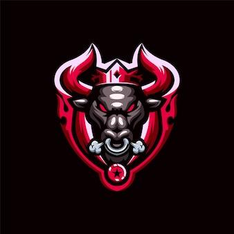 雄牛のロゴデザインの王