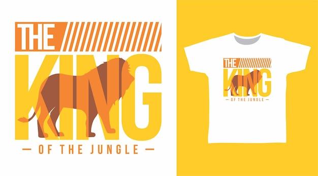 キングタイポグラフィtシャツのデザイン