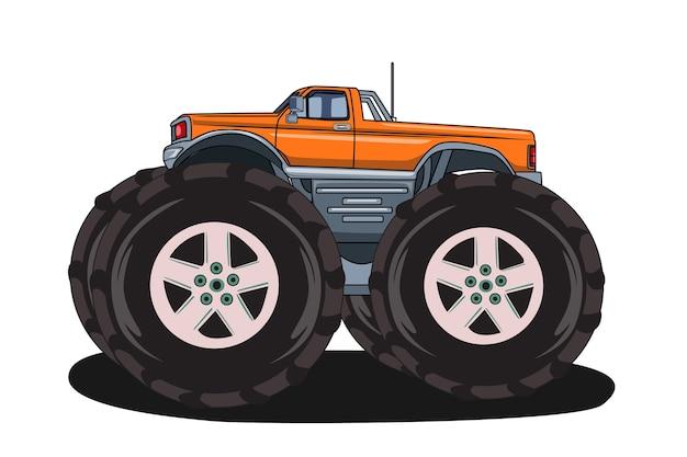 Большой грузовик-монстр вектор