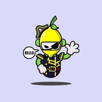 레몬 해적 로봇 캐릭터