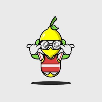 Дизайн персонажа лимонного студента-робота