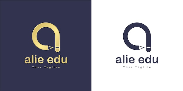 Буква а логотип имеет образовательную концепцию