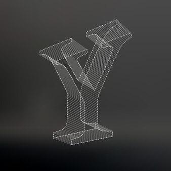 그 편지. 다각형 문자. 낮은 폴리 모델. 3차원 메쉬. 볼륨 메쉬 캐릭터.