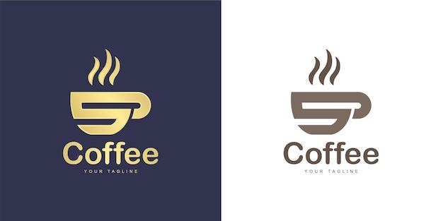 文字のロゴにはコーヒーのコンセプトがあります