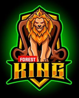 ライオンキングのマスコットeスポーツロゴ