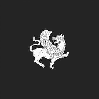 古代のライオンの翼