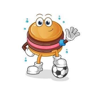 Макарун играет талисман футбольного персонажа