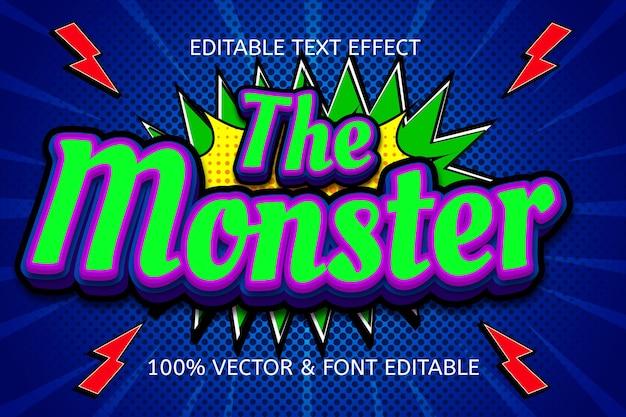 괴물 스타일 만화 편집 가능한 텍스트 효과