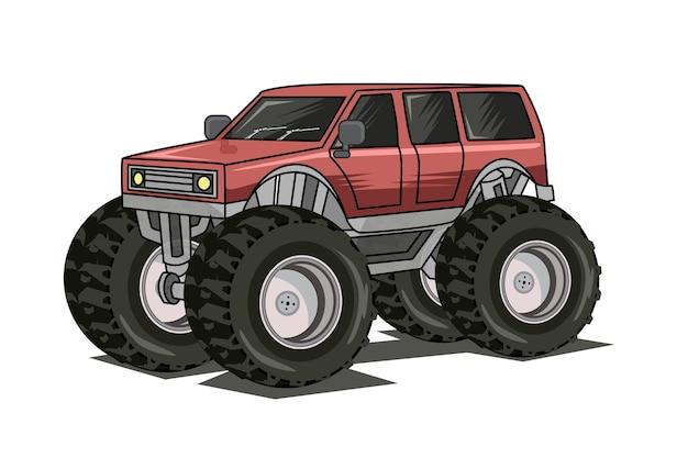 モンスタートラックのイラスト
