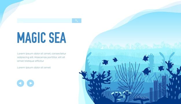 水中生物の静けさの中で最も美しい動物の生き物