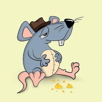 Симпатичный персонаж мыши Бесплатные векторы