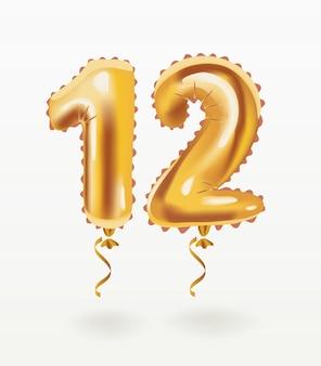 생일 풍선 12번을 위한 숫자