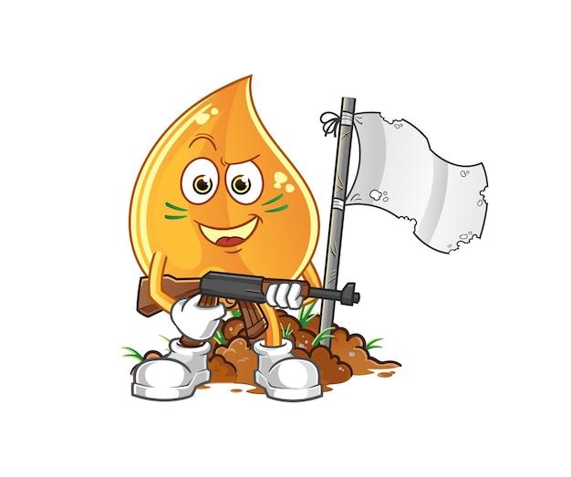 Армейский персонаж капля нефти. мультфильм
