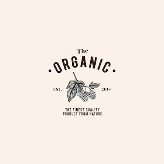 The organic logo design vector