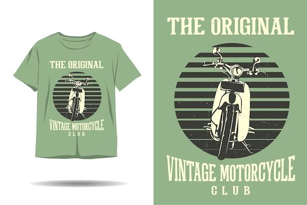 원래 빈티지 오토바이 클럽 티셔츠 디자인