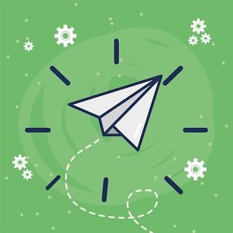 紙飛行機の創造的なコンセプト