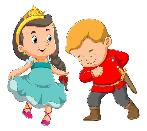 왕자의 손은 여왕을 존경합니다.