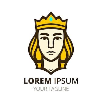Шаблон вектора дизайна логотипа королевы
