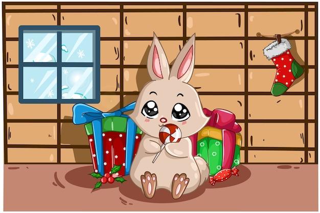 Кролик приносит сладости и много подарков