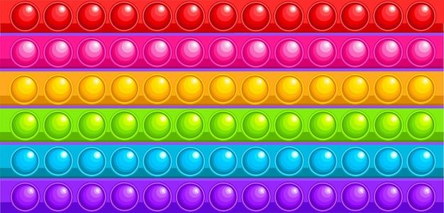 虹の抗ストレス玩具は大きな背景のカーペットです