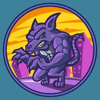 Логотип талисмана крысы