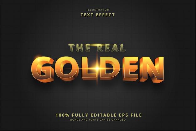 本当の黄金のテキスト効果