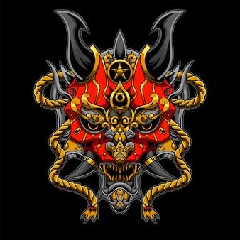 Иллюстрация красный дьявол