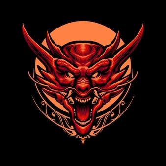 赤いドラゴンの悲鳴のイラスト