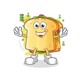 サンドイッチフルバッテリーキャラクターマスコット