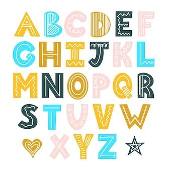 Скандинавский цветной яркий алфавит