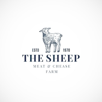 羊の抽象的なサイン、シンボルまたはロゴ