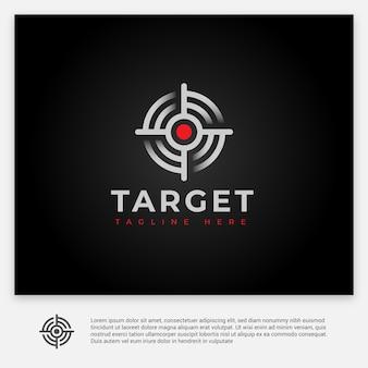 Простая и современная цель с логотипом