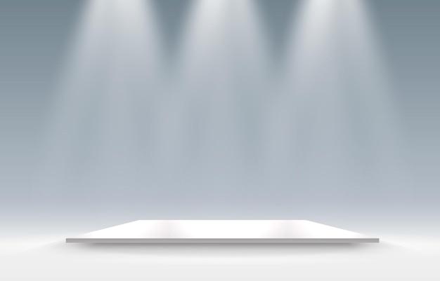 灰色の正方形の台座