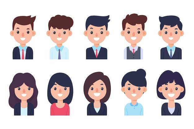직원들은 정중하게 옷을 입습니다. 비즈니스 남성과 여성입니다. 취업 지원 개념