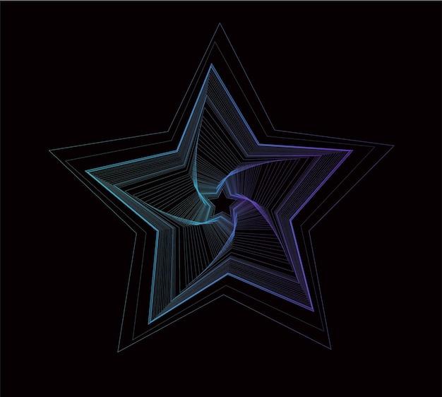 Звезда частиц векторная иллюстрация.