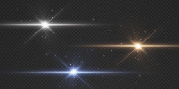 Солнце светит яркими световыми лучами с реалистичными бликами.