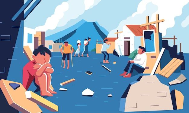 Выжившие после стихийных бедствий, которые до сих пор остаются в руинах
