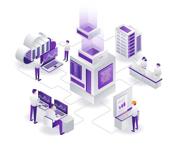 팀은 클라우드 서버 및 데이터 분석가를 관리합니다.