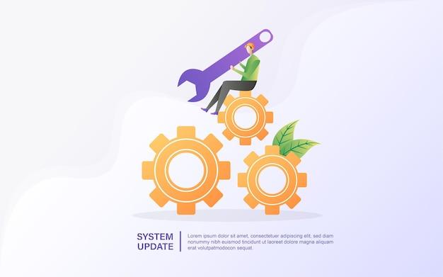 Техник выполняет ремонт системы