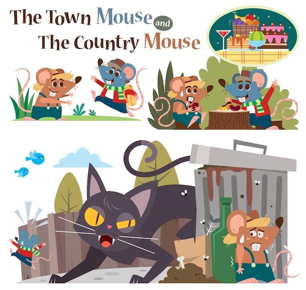 Городская мышь и деревенская мышь