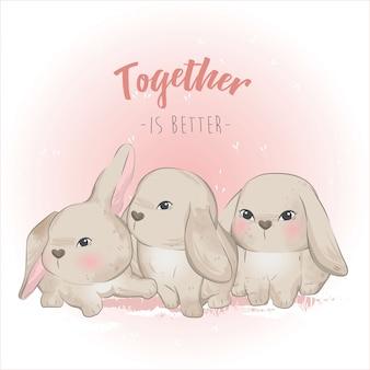 Тройной кролик