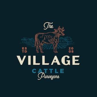 Village cattle purveyors 붓글씨 엠블럼