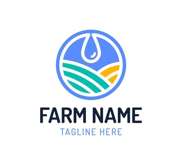 Дизайн логотипа в виде капли воды в сочетании с формой сада