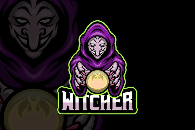 Witcher - e스포츠 로고 템플릿