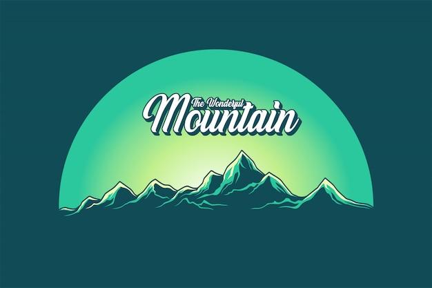 멋진 산 벡터