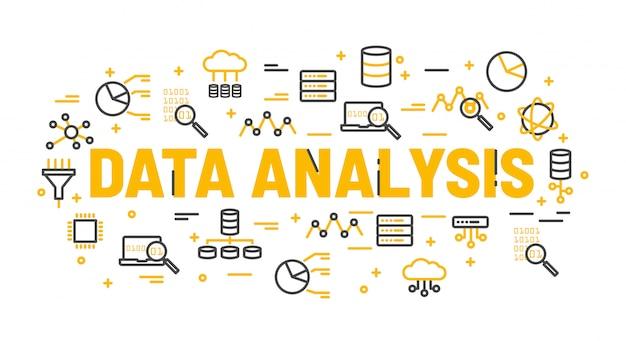 아이콘으로 둘러싸인 단어 데이터 분석